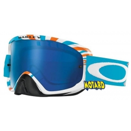 OAKLEY 02 MX RPM ORANGE BLUE LENTE ICE IRIDIUM + TRASPARENTE
