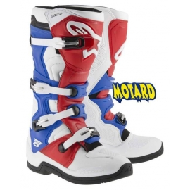 ALPINESTARS TECH 5 WHITE/RED/BLUE PROMOZIONE STIVALE CROSS