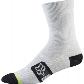 Fox Merino Wool Socks Heather White Calza tecnica MTB