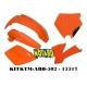 RTECH KIT PLASTICHE KTM SX 125 e SX-F 520 - 525 2001-2003