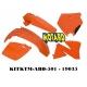 RTECH KIT PLASTICHE KTM EXC-EXCF 125-520 2000-2002