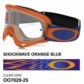 Oakley O Frame Mx Shockwawe arancione blu maschera motocross enduro quad