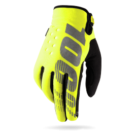 100% BRISKER GLOVE NEON YELLOW