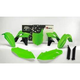 RTECH KIT PLASTICHE KAWASAKI KXF 250 2013-2016 Verde Neon