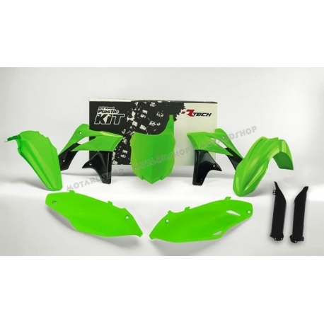 RTECH KIT PLASTICHE KAWASAKI KXF 250 2013-2016 Verde Fluo