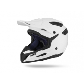 LEATT Casco GPX 5.5 Bianco Casco in fibra Motocross Enduro Quad Supermotard