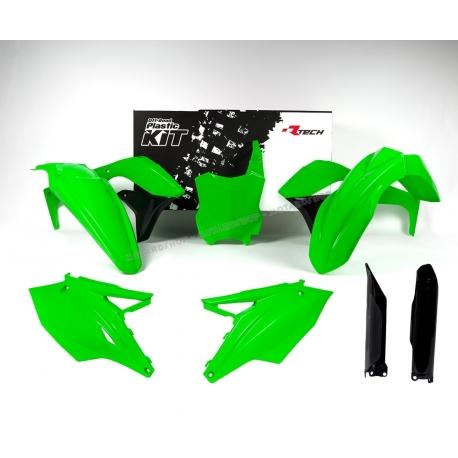 RTECH KIT PLASTICHE KAWASAKI KXF 450 2016 Verde Neon