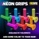 PRO TAPER Grips Single Density  Half Waffle Neon Blue