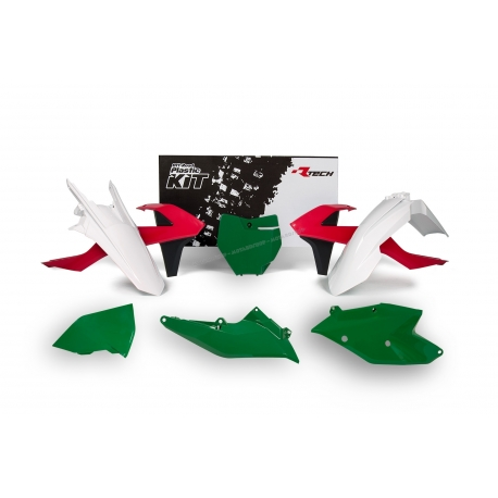 RTECH KIT PLASTICHE KTM VINTAGE RED - GREEN