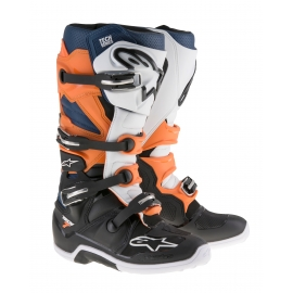 ALPINESTARS TECH 7 Black-Orange-White-Blue enduro motocross